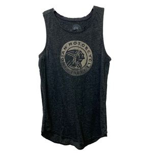 Lucky Brand Indian Motorcycle Graphic Tank Top
